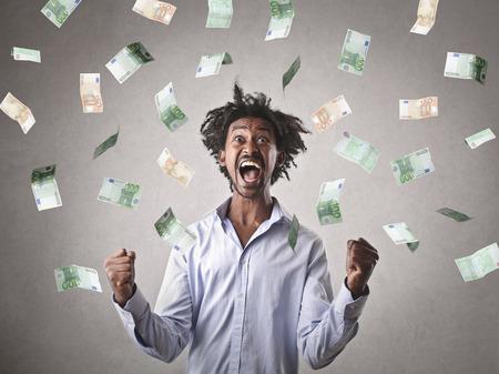 animados: Dinero!  Foto de archivo