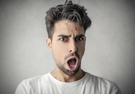 ironic: Surprised man