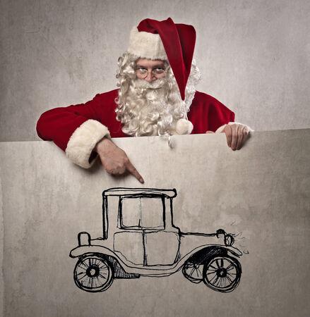 Santa Claus has got a gift photo