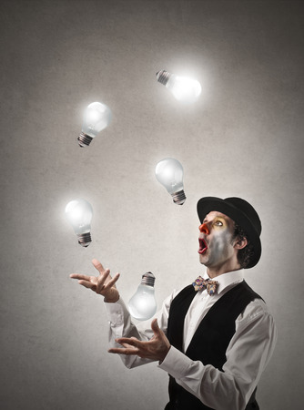 Juggling with light photo