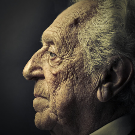 man profile: Elderly man Stock Photo