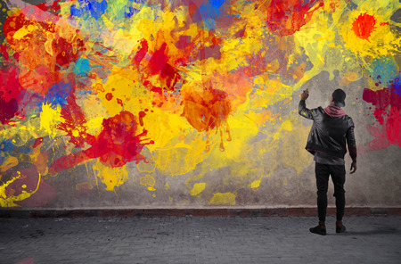 graffiti background: Colours