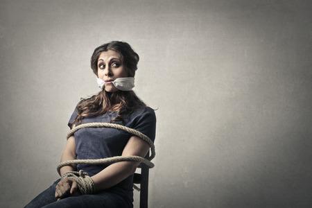 woman prison: Bounded woman
