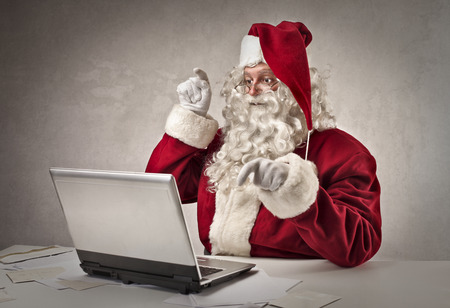 Technological Santa Stock Photo