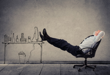 relajado: Relajado hombre de negocios Foto de archivo