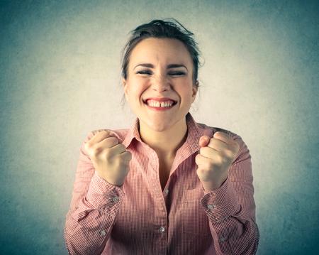 jubilating: Jubilating girl Stock Photo