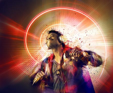 Le pouvoir de la musique Banque d'images - 36222666