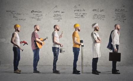 evolucion: Diferentes trabajos