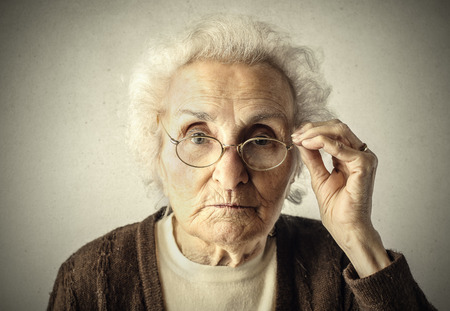 Oudere vrouw Stockfoto