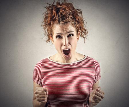 jubilate: Angry woman Stock Photo