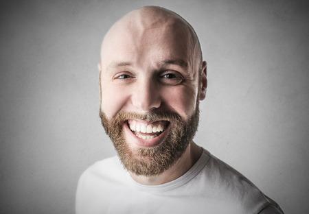 hombre calvo: Hombre sonriente Foto de archivo