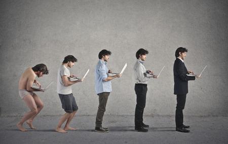 Evolution Banque d'images