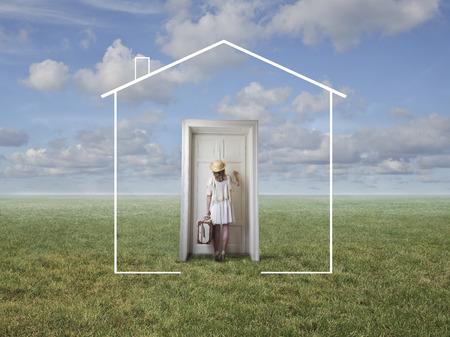 La porte de la maison
