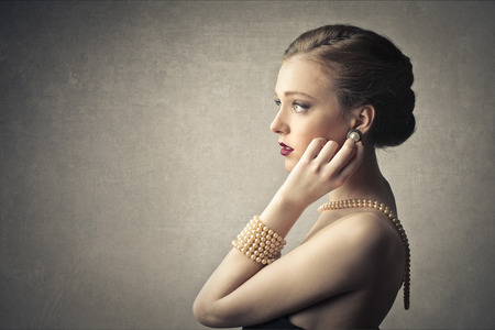 elegance: Pearls and elegance Stock Photo
