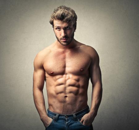 homme nu: Beau Banque d'images