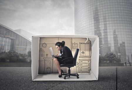 oficina: Trabajar dentro de la caja