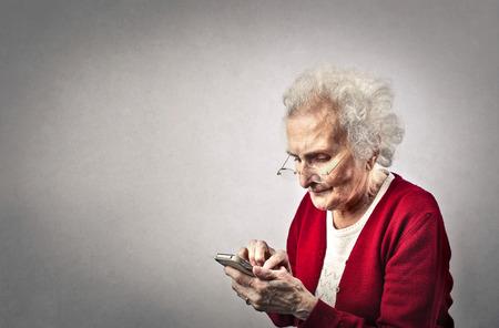 Grandma texting