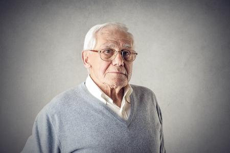 厳格な祖父 写真素材