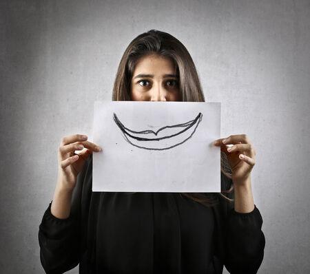 always: Always smile! Stock Photo