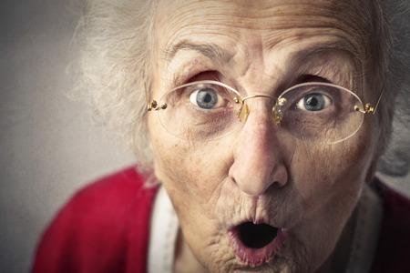 Shocked grandmother