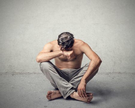 man crying: Desolation