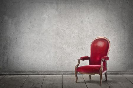 silla: Silla roja Foto de archivo