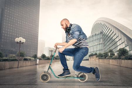 scooter: Una forma diferente de transporte Foto de archivo