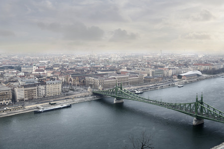 budapest: A view of Budapest Stock Photo