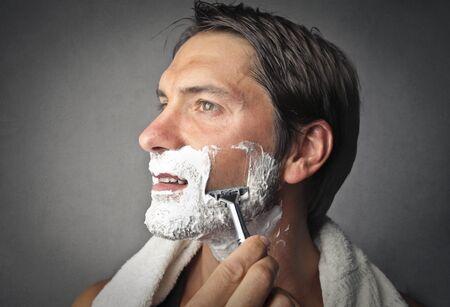 beautiful boys: Man shaving
