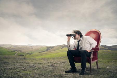 reign: Businessman using binoculars