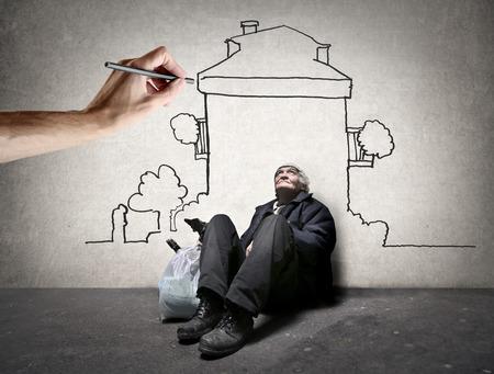 Une maison pour un pauvre homme Banque d'images - 39901551