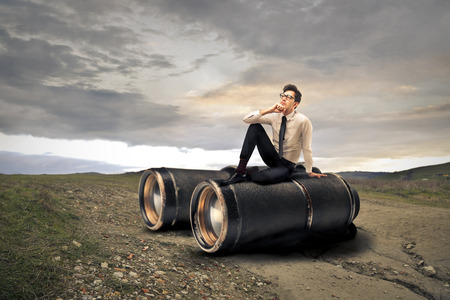 Giant binoculars Standard-Bild