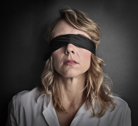 sightless: Blind woman