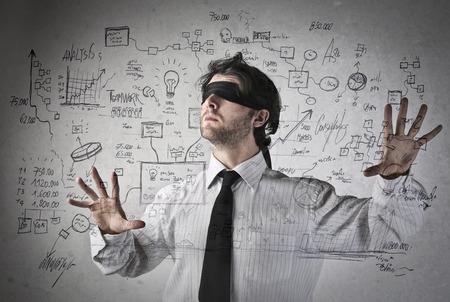 Blind bedrijfsstrategieën Stockfoto