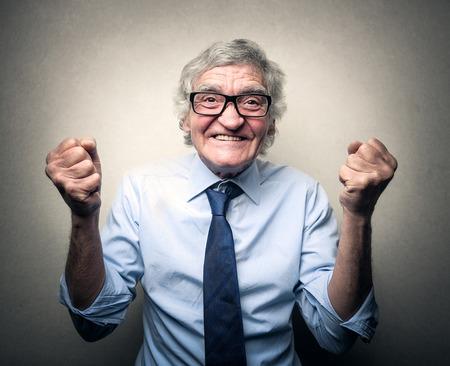 persona alegre: ?ito Foto de archivo