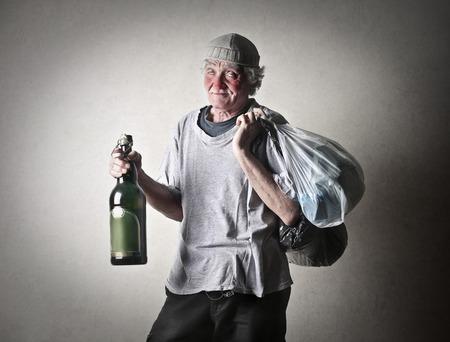 hombre pobre: Pobre hombre Foto de archivo
