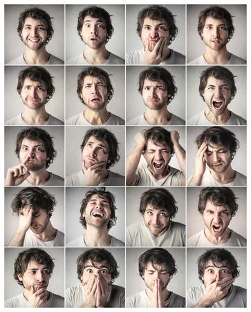Different expressions Archivio Fotografico