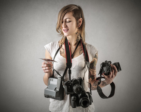 photographers: Busy photographer Stock Photo