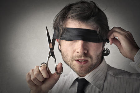 Blind zakenman