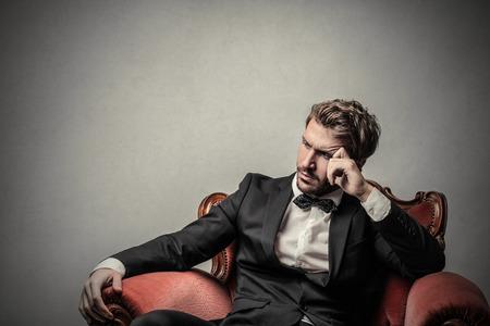 business lounge: Handsome businessman