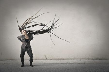 peculiar: Peculiar hairstyle