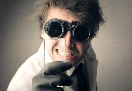 Crazy scientist Zdjęcie Seryjne