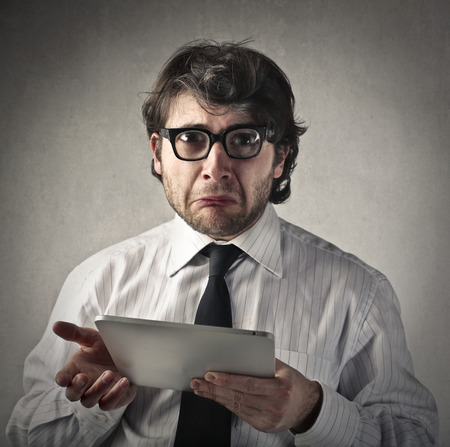 delusion: Disappointed businessman Stock Photo