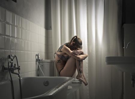 desolation: Girl in the bathroom
