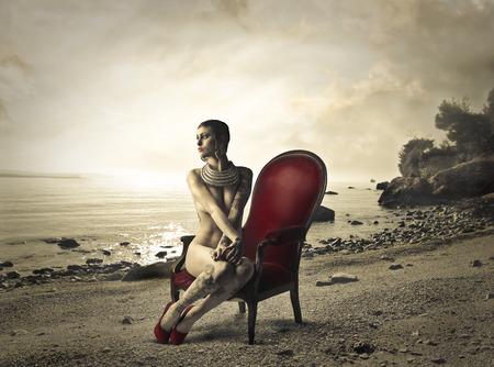 ragazza nuda: Eleganza Archivio Fotografico