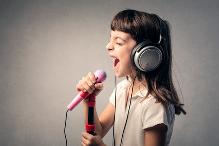 A great singer Stock Photo