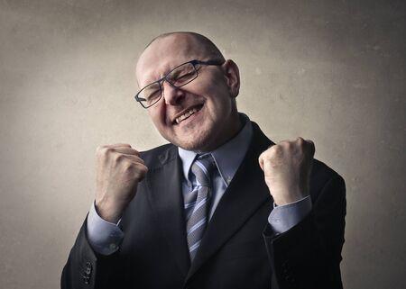 jubilate: Jubilant businessman