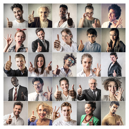 smiling faces: Successful people Stock Photo