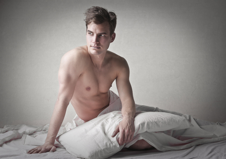 hombre desnudo: Chico guapo Foto de archivo