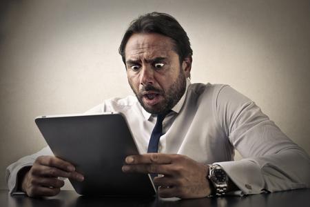 Shocked manager